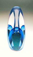 Veiled Pearl Illusion by Edward Kachurik (Art Glass Paperweight)