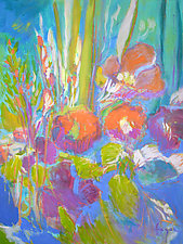 Something's Blooming by Dorothy Fagan (Oil Painting)