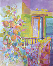 The Yellow Door by Dorothy Fagan (Oil Painting)