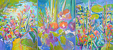 A Pond of My Own Triptych by Dorothy Fagan (Oil Painting)