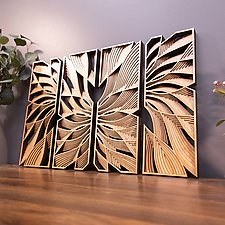Quad Flow by Philip Roberts (Wood Wall Sculpture)