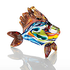 Rainbow Fish by Michael Richardson, Justin Tarducci and Tim Underwood (Art Glass Ornament)