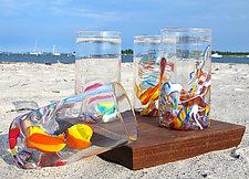 Cane-Fetti Tumblers by Michael Richardson, Justin Tarducci, and Tim Underwood (Art Glass Drinkware)