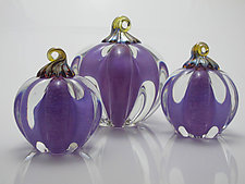 Purple Pumpkin by Michael Richardson, Justin Tarducci and Tim Underwood (Art Glass Sculpture)