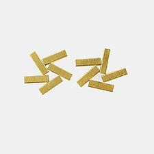 Tube Earrings by Hughes & Templin (Gold & Silver Earrings)
