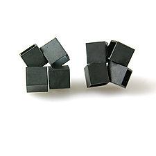 Cube Earrings by Hughes & Templin (Silver Earrings)