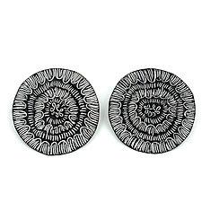 Arc Line Arc Sgraffito Earrings by Tanya Crane (Enameled Earrings)