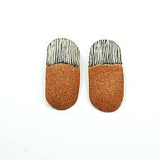 Sand and Line Drop Earrings by Tanya Crane (Mixed Media Earrings)