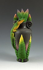 Lone Lizard Perfume by Nancy Y. Adams (Ceramic Perfume Bottles)