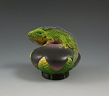 Iguana Bowl II by Nancy Y. Adams (Ceramic Bowl)