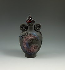 Black Dragon Perfume by Nancy Y. Adams (Ceramic Perfume Bottle)