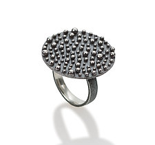 Bumpy Shield Ring by Dahlia Kanner (Silver Ring)