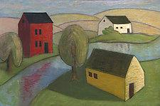River Camp by Robert Ferrucci (Giclee Print)
