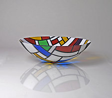 A Bowl For Theo (No.2) by Jim Scheller (Art Glass Bowl)