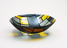 Bowl No.4 for Piet by Jim Scheller (Art Glass Bowl)