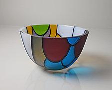 Vessel Composition 16 by Jim Scheller (Art Glass Bowl)