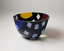 Counter-Composition as a Vessel 34 by Jim Scheller (Art Glass Bowl)