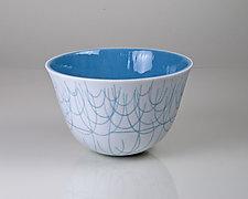 Vessel Composition 27: Powder Blue Arcs by Jim Scheller (Art Glass Bowl)