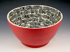 In Between the Lines Bowl by Lisa Scroggins (Ceramic Bowl)