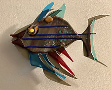 Fish Heaven XV by Sabra Richards (Art Glass Wall Sculpture)