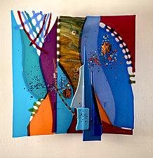 Midnight Blue by Sabra Richards (Art Glass Wall Sculpture)