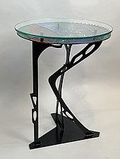 Trio I by Sabra Richards (Art Glass Side Table)