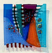 Twilight by Sabra Richards (Art Glass Wall Sculpture)