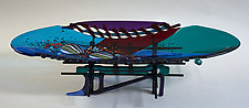 New Orleans by Sabra Richards (Art Glass Sculpture)