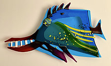 Freddie the Fish by Sabra Richards (Art Glass Wall Sculpture)