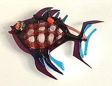 Fish Heaven IX by Sabra Richards (Art Glass Wall Sculpture)