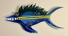 Freida the Fish by Sabra Richards (Art Glass Wall Sculpture)