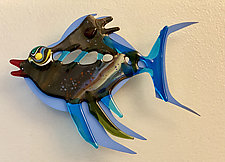 Fish Heaven XII by Sabra Richards (Art Glass Wall Sculpture)