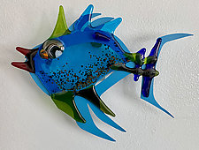 Tropical Fish I by Sabra Richards (Art Glass Wall Sculpture)