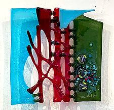 Spring Garden by Sabra Richards (Art Glass Wall Sculpture)