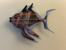 Fish Heaven XVI by Sabra Richards (Art Glass Wall Sculpture)