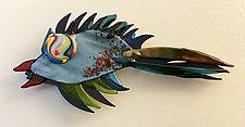 Flying Fish XXI by Sabra Richards (Art Glass Wall Sculpture)