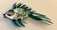 Flying Fish XVIII by Sabra Richards (Art Glass Wall Sculpture)
