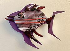 Fish Heaven XIV by Sabra Richards (Art Glass Wall Sculpture)