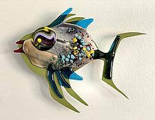 Fish Heaven X by Sabra Richards (Art Glass Wall Sculpture)