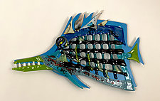 Frankie the Fish by Sabra Richards (Art Glass Wall Sculpture)