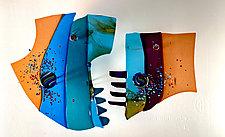Ocean Sun II by Sabra Richards (Art Glass Wall Sculpture)