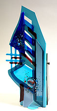 Windswept III by Sabra Richards (Art Glass Sculpture)