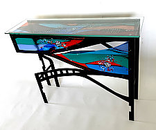 Ocean Park by Sabra Richards (Art Glass Console Table)