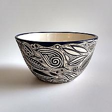 Large Leaf Bowl by Beth Hatlen Elliott (Ceramic Bowl)