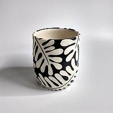 Tropical Leaf Cup by Beth Hatlen Elliott (Ceramic Drinkware)