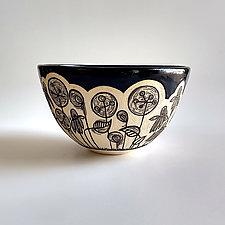 Lollipop Flower Bowl by Beth Hatlen Elliott (Ceramic Bowl)