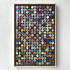 Mixed Graphics Moving Mosaic by Hannah & Nemo (Metal Wall Sculpture)
