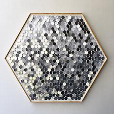 Shimmering Hexagon by Hannah & Nemo (Metal Wall Sculpture)