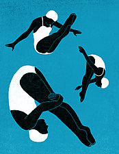Divers No.2 by James Steinberg (Giclee Print)