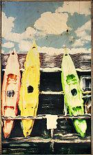 Kayak Rainbow by Linda McAdams (Mixed-Media Photograph)